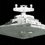 Star Destroyer and Kylo Ren's shuttle